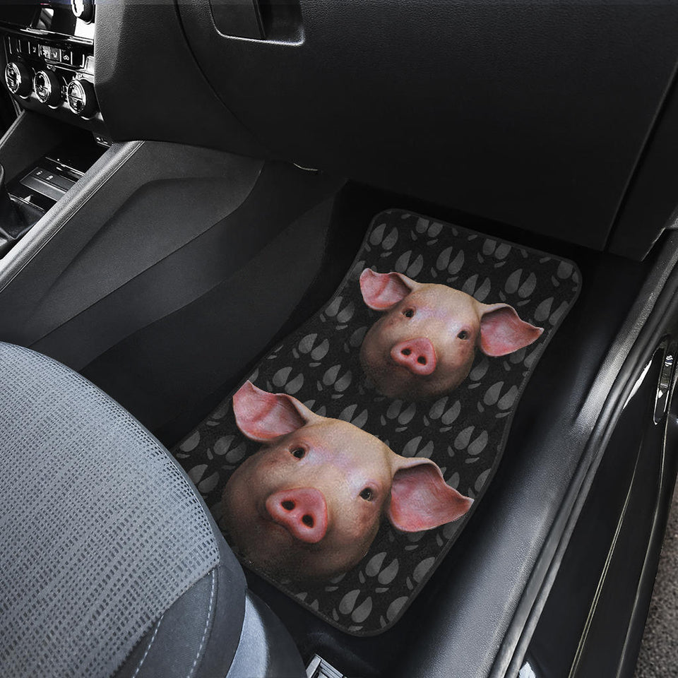 Front car mats - Pig Head Cute