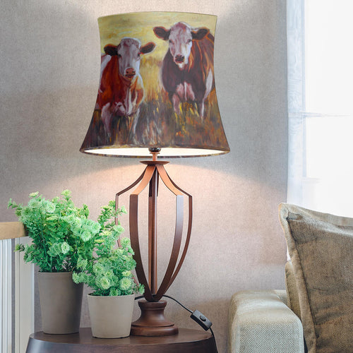 Drum Lamp Shade - Cow Lovers 06
