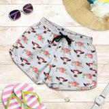 All over print women's shorts - cow 4