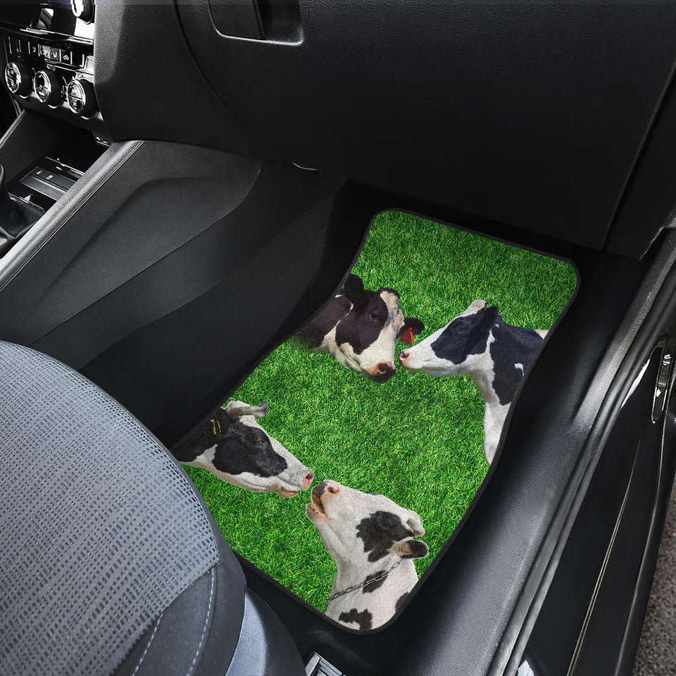 Front car mats - Cows & grass