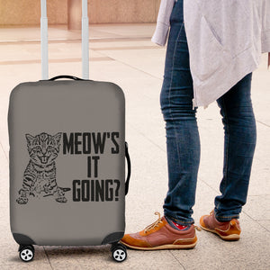 NP Meow's It Going Luggage Cover Cat