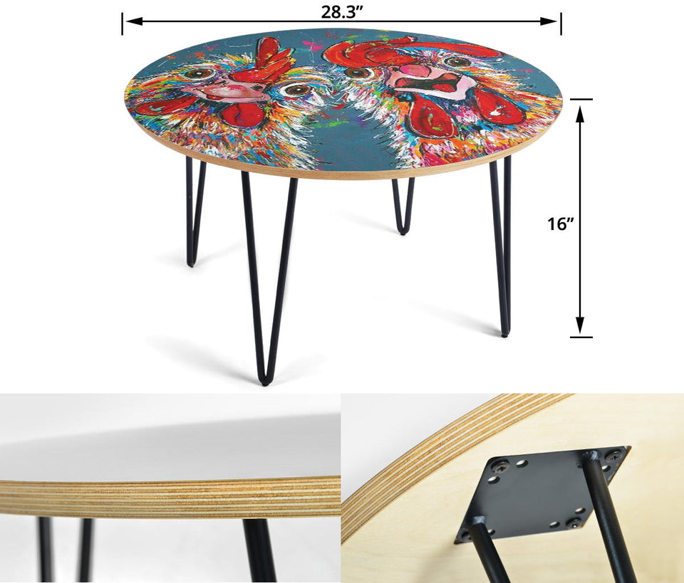 Circular Coffee Table - Chicken Lovers 02 (US Only)
