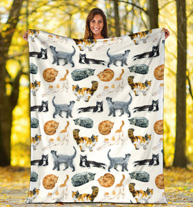 Premium Blanket Printed-sk01 for Cat Lovers