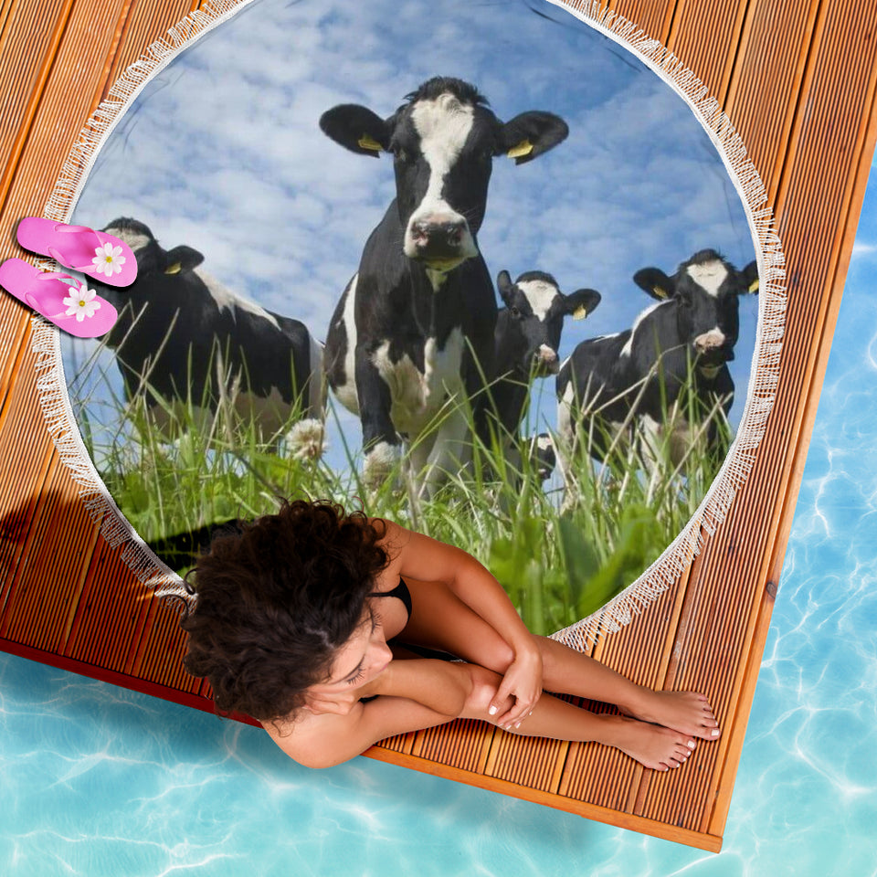 Beach blanket - Cow 38