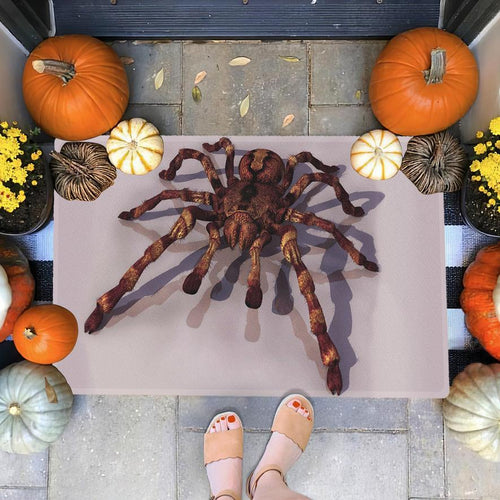 [High quality] Halloween Spider Doormat Floor Mat Door Mat For Indoor Or Outdoor Use, Utility Mat For Entryway, Home Gym