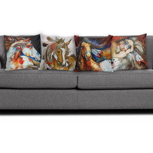 Set of 4 pillow covers - Horse Lovers 01