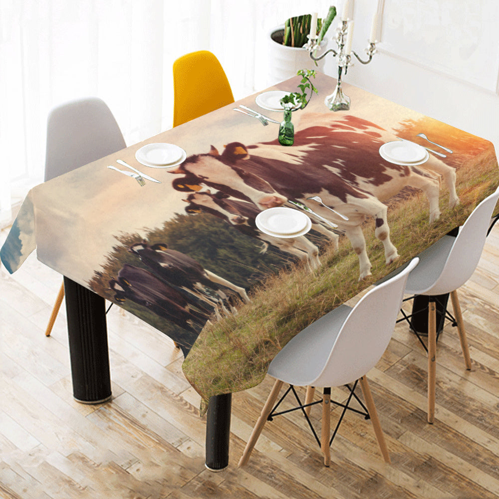 Cotton Linen Tablecloth - Cow sk03