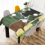 Cotton Linen Tablecloth - Cow sk05