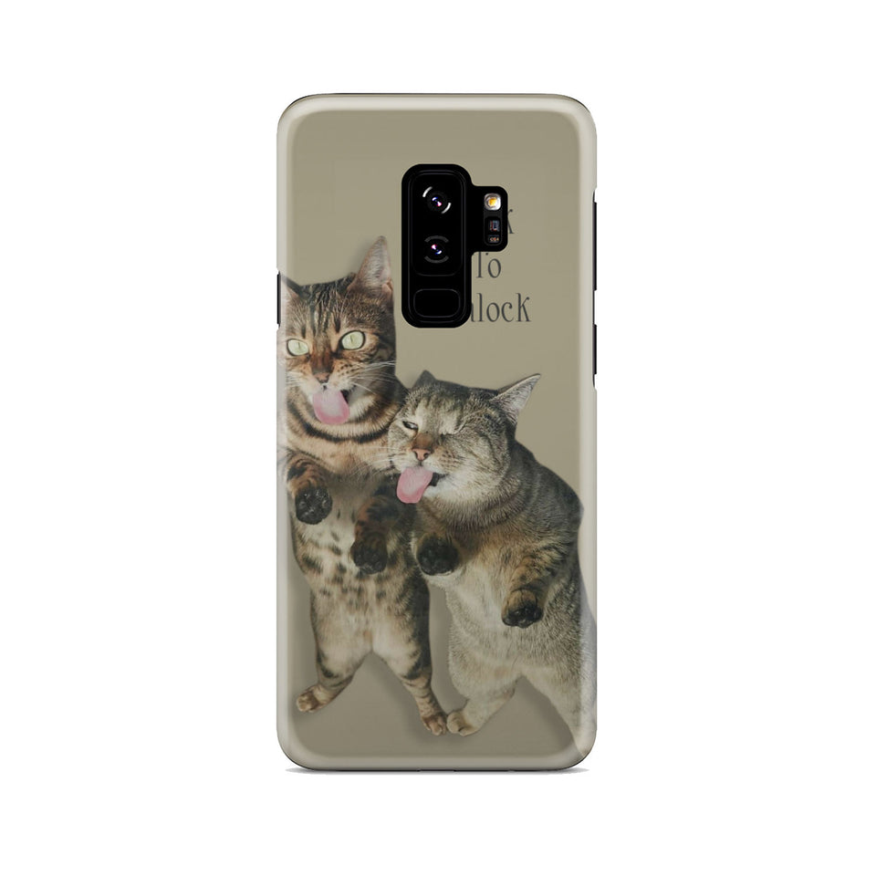 Phone case for Cat lover - Lick to unlock.