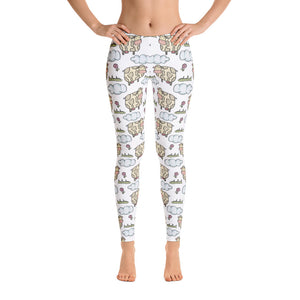 Women's Ultra Soft Leggings Fashion Seamless Stretch Pants for Cow Lovers-sk05