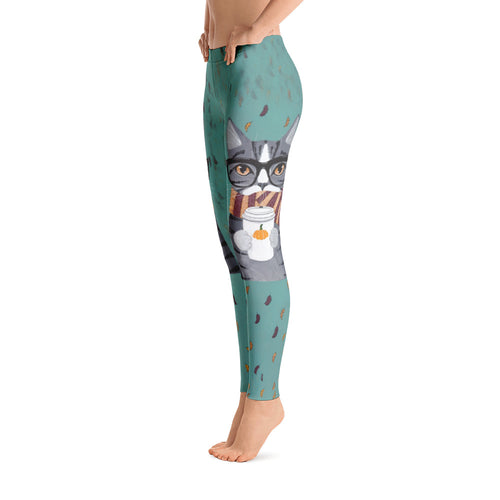 Women's Ultra Soft Leggings Fashion Seamless Stretch Pants for Cat Lovers-sk15