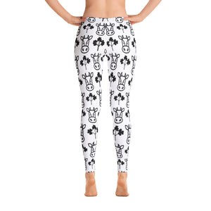 cute pattern cow-Leggings
