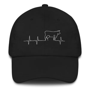 Heart beat-love cows-hat