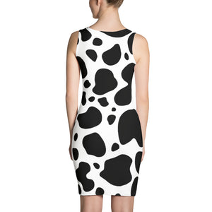 Cow Skin-Sew Dress
