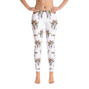 Women's Ultra Soft Leggings Fashion Seamless Stretch Pants for Cow Lovers-sk12