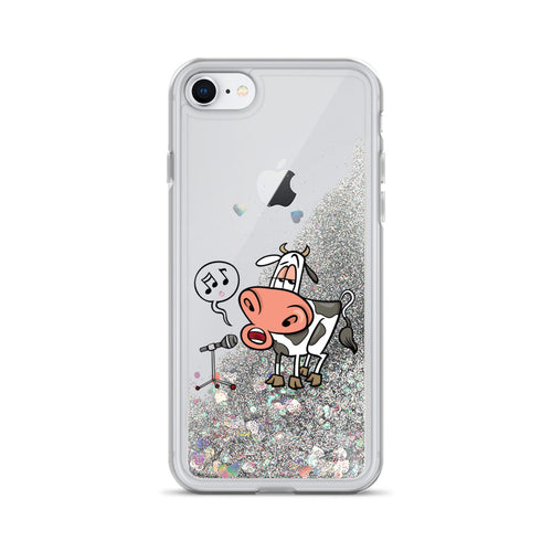 Liquid Glitter Phonecase for iPhone Cow 12