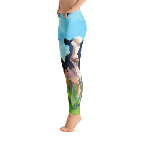 Women's Ultra Soft Leggings Fashion Seamless Stretch Pants for Cow Lovers-sk23