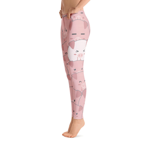 Women's Ultra Soft Leggings Fashion Seamless Stretch Pants for Pig Lovers sk12