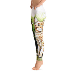 Women's Ultra Soft Leggings Fashion Seamless Stretch Pants for Cat Lovers-sk05