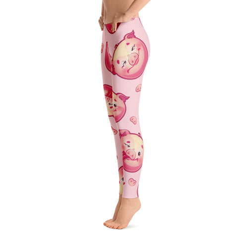 Women's Ultra Soft Leggings Fashion Seamless Stretch Pants for Pig Lovers sk05