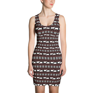Pattern love cow-Sublimation Cut & Sew Dress