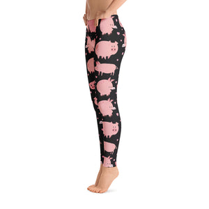 Women's Ultra Soft Leggings Fashion Seamless Stretch Pants for Pig Lovers sk09
