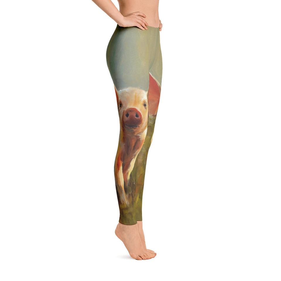 Women's Ultra Soft Leggings Fashion Seamless Stretch Pants for Pig Lovers sk01
