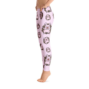 Women's Ultra Soft Leggings Fashion Seamless Stretch Pants for Pig Lovers sk17