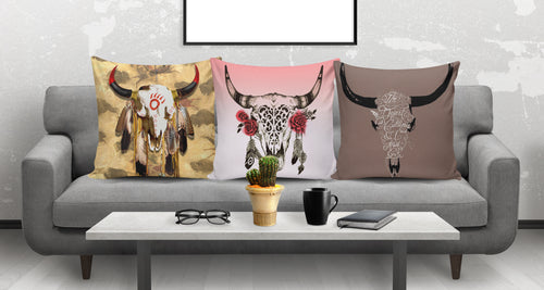 3 Pillow Covers - Cow Lovers