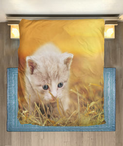 Microfiber Duvet Cover for Cat Lovers 01