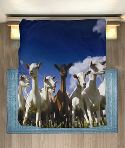 Microfiber Duvet Cover for Goat Lovers 03