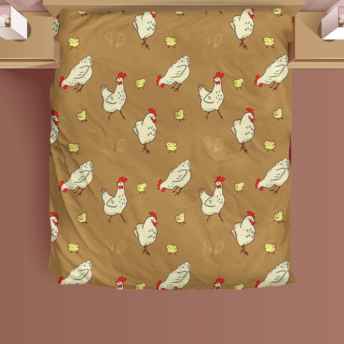 Microfiber Duvet Cover for Chicken Lovers 01