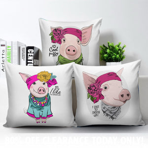 3 pillow covers - Pig Lovers