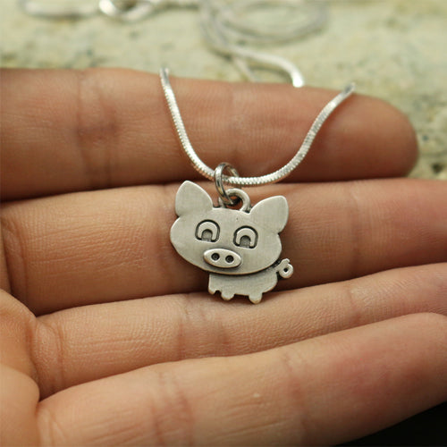 Tiny Cute pig necklace