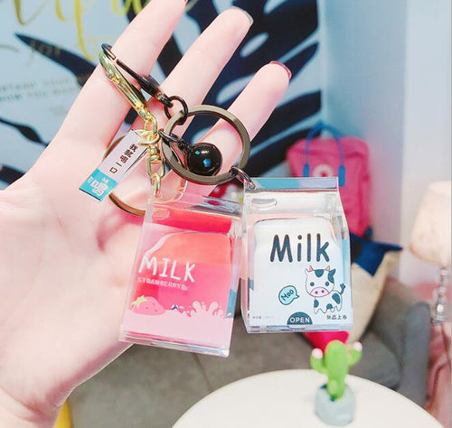 Creative Dairy Cow Milk Cans for Keychain