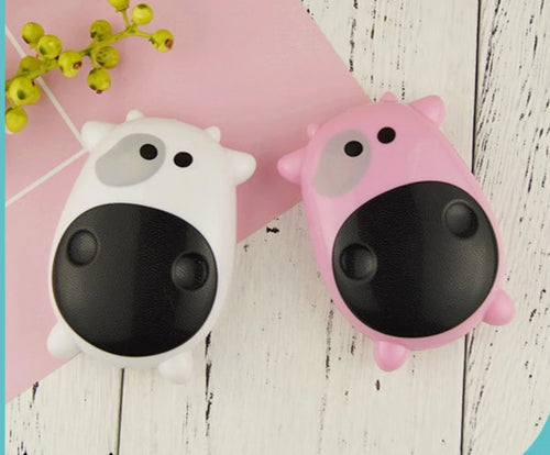 Portable Cute Cow Lens Case with Mirror