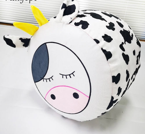 Inflatable Cartoon Cow Chair for Children