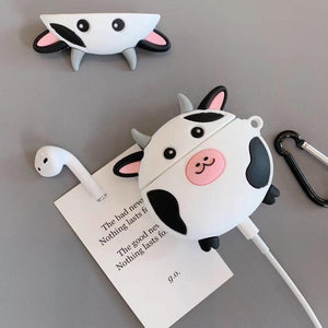 A Cute Cartoon Cow For Apple Airpods Silicone Case