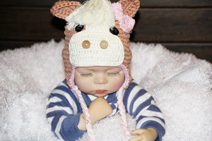Crochet Horse Hats Winter