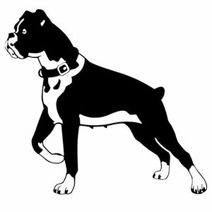 15.2*14CM Boxer Dog Personality Funny Car Stickers Black/Silver
