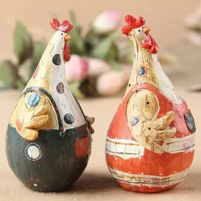 Chicken couples 2PCS/LOT  Figurines Home Decoration Crafts