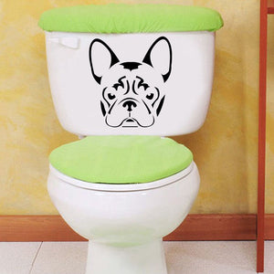 French BullDog Frenchie Face Head Vinyl Decal Stickers Home Decoration