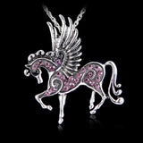 Necklace Silver Horse with Wings