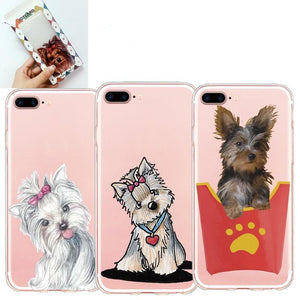 Yorkshire Terrier Protective Soft Transparent Silicone Phone Case