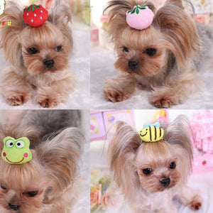 Yorkshire Terrier And Poodle 3D Hair Accessories Cute 3 pieces / lot