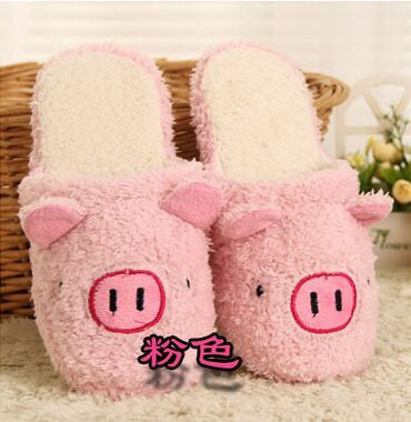 Pig Cute Cotton Fabric Home Slippers Winter  Indoor - Barnsmile.com-Barnsmile.com-shirt, tees, clothings, accessories, shoes, home decor