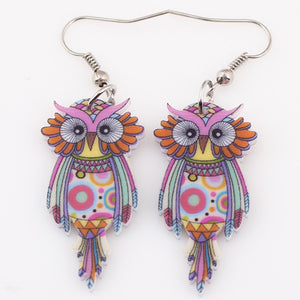 Owl Earrings Acrylic