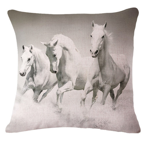 3D Horse Animals Pattern Decorative Throw Pillow case Cushion Cover 45x45cm