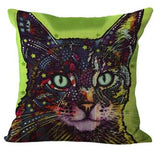 Cats pillows case on sofa for home decoration