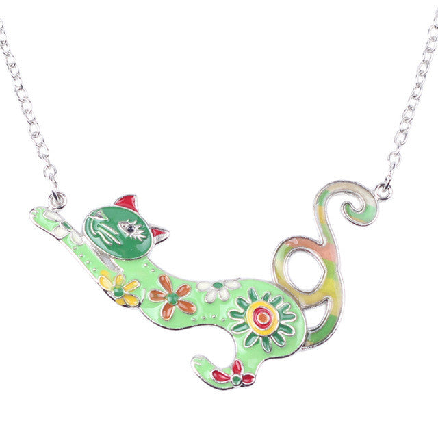 2017 Colorful  Cat Necklace